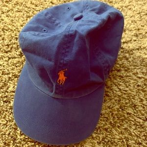 Polo Ralph Lauren Blue Hat with leather strap
